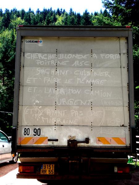 Humour de camion