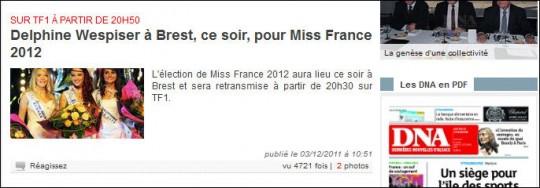 Miss France dans les DNA