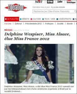 Miss France dans Libé