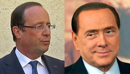 Hollande et Berlusconi
