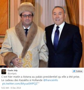 Hollande au Kazakhstan