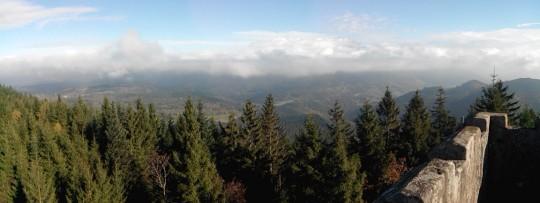 La plaine d'Alsace sous les nuages