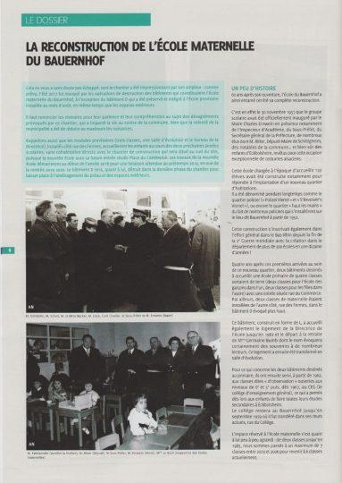 Historique de l'école du Bauernhof