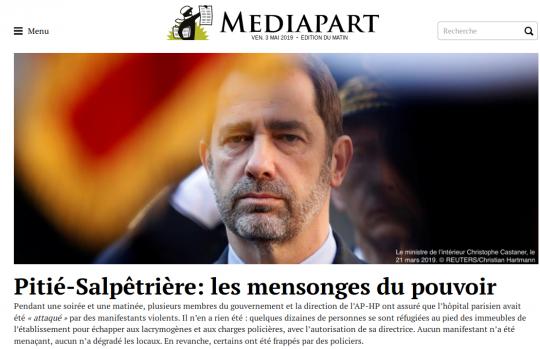 Médiapart le 3 mai 2019