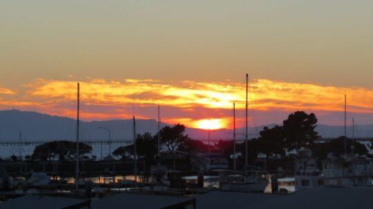 Coucher de soleil sur la baie de San Francisco