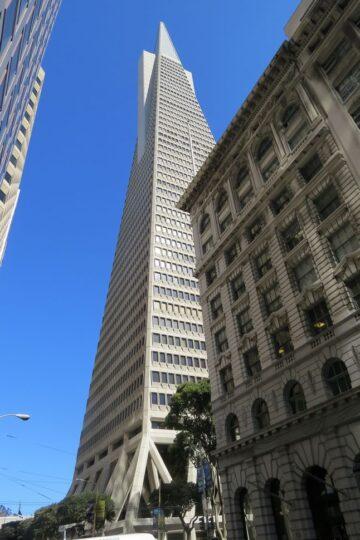 La TransAmericaPyramid, le fameux gratte-ciel pyramidal de San Francisco
