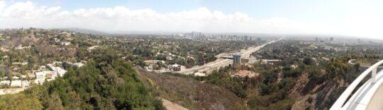 Los Angeles vu du Getty Center