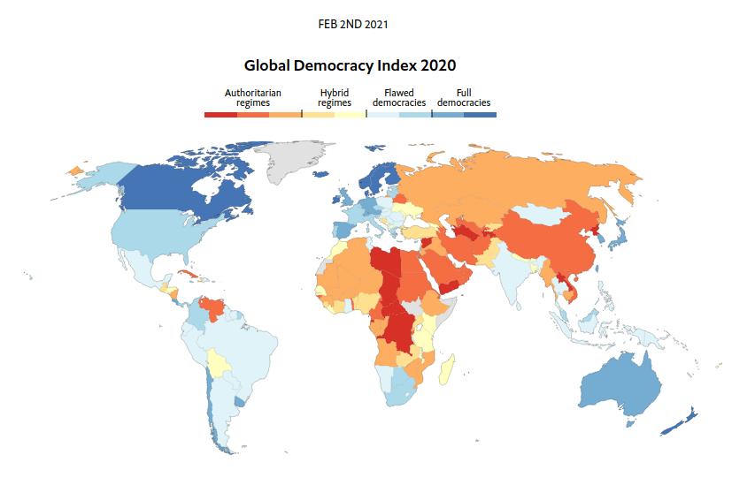 Carte des démocraties