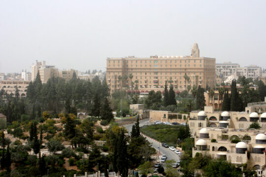 La Jérusalem moderne avec l'hôtel King David (où des terroristes juifs ont commis un attentat en 1946)