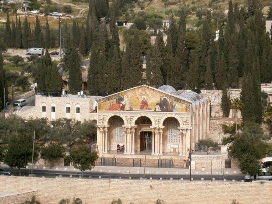 L'église de Toutes-les-Nations au pied du Mont des Oliviers (catholique)