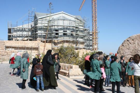 Sortie scolaire jordanienne au Mont Nébo