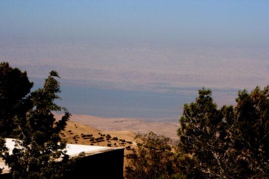Vue de la Mer Morte du Mont Nébo (ce qu'a vu Moïse avant de mourir)