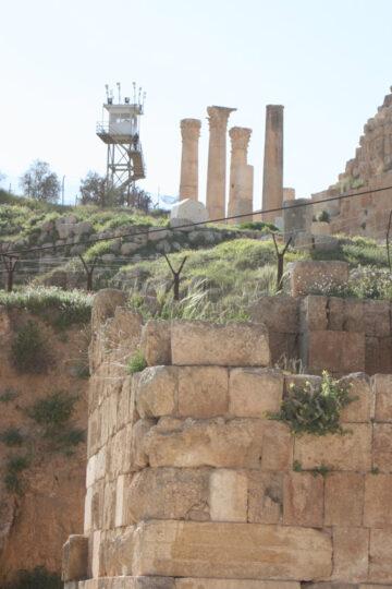 Des ruines très surveillées