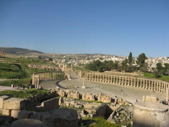 Le forum de Gerasa vu du théâtre sud