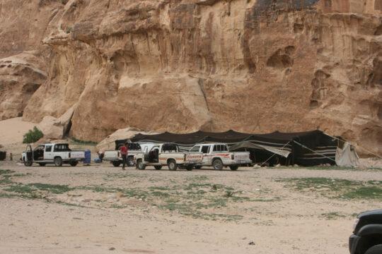 Campement de bédouins (vivant du tourisme à Little Petra)