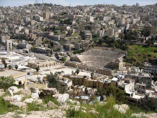 Amman avec son théâtre et son Odéon romains